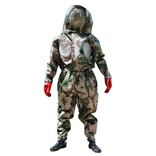 DJLOOKK Imkeranzug Anti-Wasp-Anzug mit Maske, Stiefel und Handschuhe mit Imkeranzug für Fächer, spezialisiert auf Defend Wasp,XXL