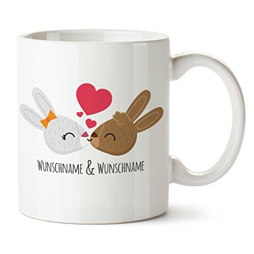 """Personalisierter Süßer Kaffeebecher kaufen – bedruckt Motiv """"Kissing Bunnys"""" Tasse Ostergeschenk kaufen –  Geschenk kaufen – Frohe Ostern Hase Ostereier Becher personalisierter süßer kaffeebecher kaufen Personalisierter Süßer Kaffeebecher kaufen – bedruckt Motiv """"Kissing Bunnys"""" Tasse Ostergeschenk kaufen –  Geschenk kaufen – Frohe Ostern Hase Ostereier Becher 411HzWGDaqL"""