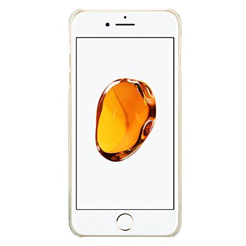 iPhone 8 Plus Hülle, Fraelc iPhone 7 Plus Schutzhülle Glitter Glitzer 3D Hülle Weihnachten Christmas Xmas Gift Transparent Hardcase Treibsand Dynamisch Liquid Sparkle Handyhülle für Apple iPhone 7 Plu Gold