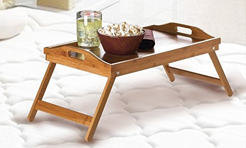 Tavoli Per Colazione A Letto : Vassoio pieghevole in bambù dimensioni cm vassoio