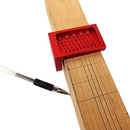 411HztfL1EL - Herramientas de carpintería de precisión, regla de medición de agujeros en forma de T de aleación de aluminio, calibre de alta precisión, marca de ayuda de calibración cruzada