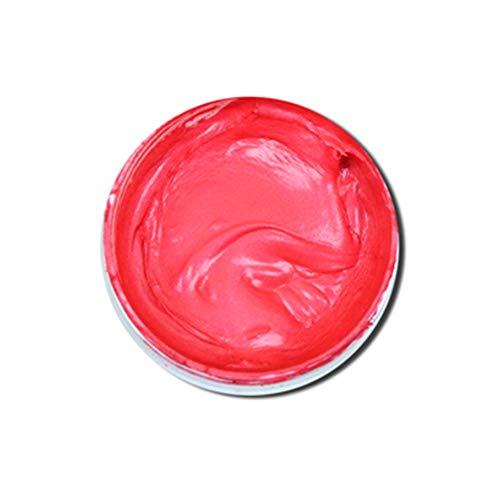 Haarfärbemittel Wachs Frisur Wachs gefärbt Haarfärbung Wachs Frisur Schlamm Creme Haar für Kinder Männer Frauen Cosplay Nachtclub Masquerade Transformation (Rot)