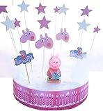 Set di decorazioni Peppa Pig per torta di compleanno