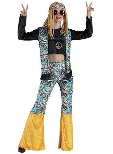 chiber Disfraces Costume da Hippie per Donna