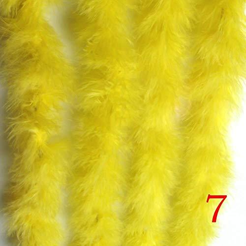 JinYiZhaoMing Truthahnfeder Flauschige Federboa Super Qualität Marabu-Federboa für Party/Kostüm/Schal Türkei gelb