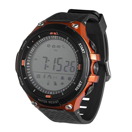 htfrgeds Smartwatch, Fitness Armband Sportuhr Smart Watch Mit Pulsmesser Schlafmonitor Schrittzähler Armbanduhr mit iOS Android für Kinder Damen Herren zum Laufen, Wandern und Klettern (Orange)