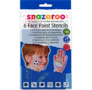 USA Produkt - Snazaroo Face Painting Schablonen 6/PkSet Für Jungen