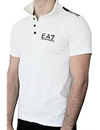 Polo EA7 EMPORIO ARMANI homme manches courtes blanc