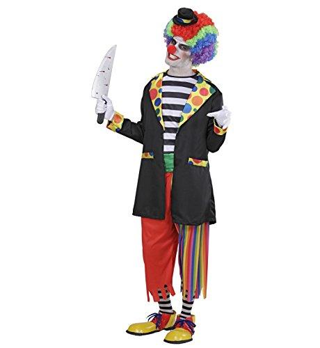 (Widmann 97933 - Erwachsenenkostüm Horror Clown, Jacke mit Hemd, Hose, Socken und Hut, Größe L)