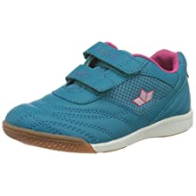 Lico Girls' Bilbao V Indoor Court Shoe, Turquoise/Pink, 1 UK
