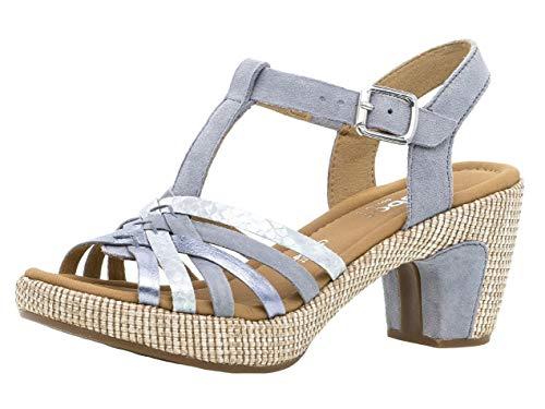 Gabor Damen Sandaletten 22.736.16, Frauen Sandaletten,Sommerschuhe,offene Absatzschuhe,hoher Absatz,Cielo (ba.st),38.5 EU / 5.5 UK (Frauen-bereich)