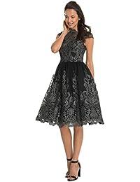 Vestido de mujer Señoras Sexy Cordón Bordado Paseo Formal Dama de honor Boda Princesa Elegante Vestido