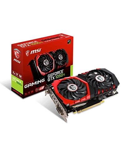 MSI GeForce GTX 1050TI Gaming 4GB Nvidia GDDR5 1x HDMI, 1x DP, 1x DL-DVI-D, 2 Slot Afterburner OC, Gaming App, Grafikkarte