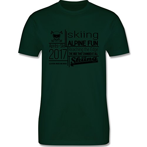 Après Ski - Skiing Alpine Fun 2017 - Herren Premium T-Shirt Dunkelgrün