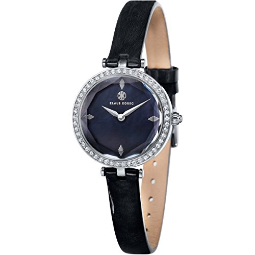 Klaus Kobec KK-10001-03 Ladies Angel Steel Watch with Swarovski Crystal Bezel
