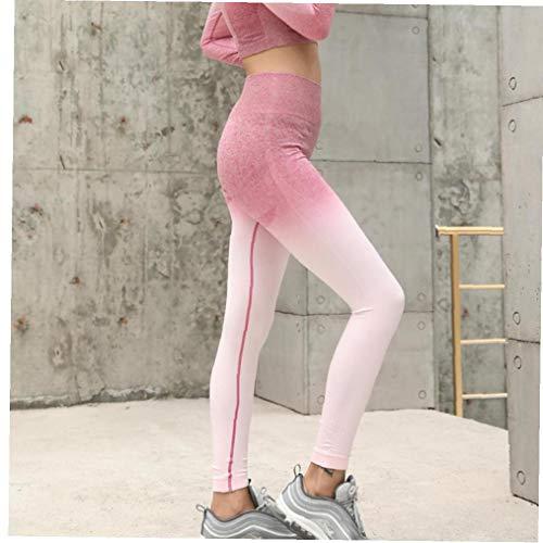 Beito Training Gamaschen Sport Frau Gymnastik-Sport-reizvolle Gamaschen Frauen Leggins hohe Taillen-Frauen Hosen-Yoga-Gamaschen Active Wear Gray (l) -