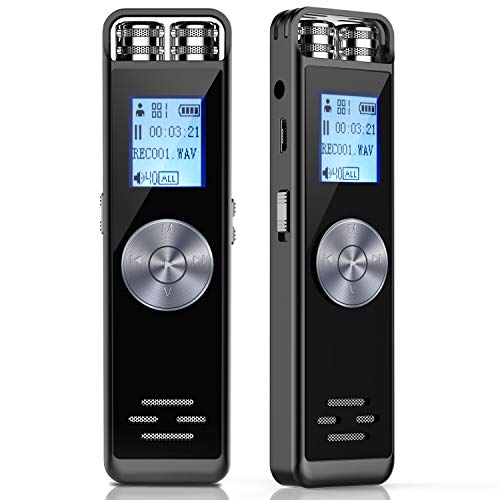 Registratore Vocale Digitale,ADOKEY 8GB HD Audio Portatile Registratore Voice Recorder Registratore Dittafono...
