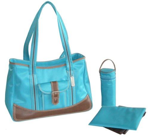 panal-kalencom-moda-bolsa-cambio-de-bolsa-panal-bolsa-mommy-bag-bolsa-de-nylon-weekender-bag-turques