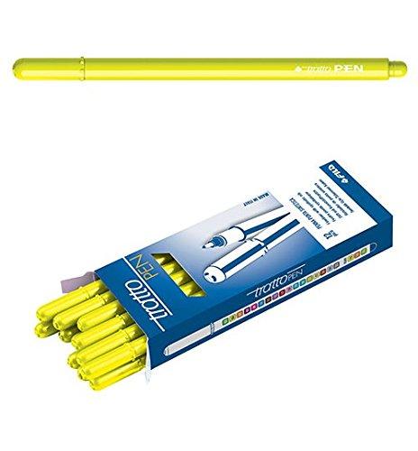 Pennarelli Tratto Pen 12 pz. Fluo Giallo