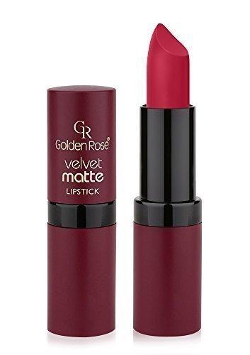 Golden Rose Velvet Matte Lippenstift, 18 old rose red