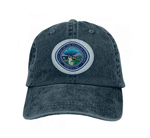 Unisex Style Strapback Hat Baseball Cap Emblem Nebraska State usa Emblem Province Navy - Nebraska Angeln