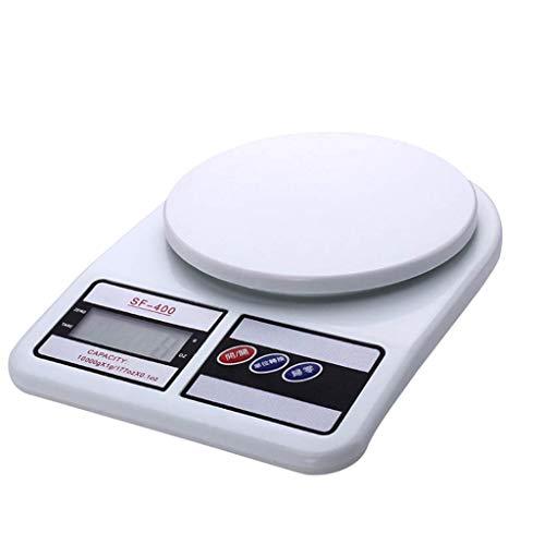 CMrtew Elektronische Küchenwaage, 10 kg, 1 g, mit Timer, elektronisch, digital, hohe Präzision