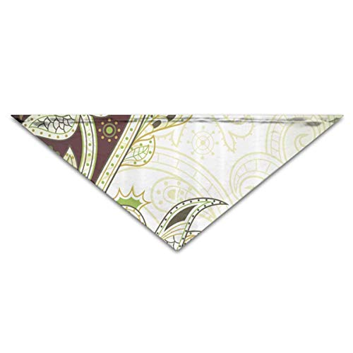 Rghkjlp Vintage Floral Pattern Pet Bandana Triangle Dog Cat Neckerchief Bibs Scarfs Accessories for Pet Cats and Baby Puppies Floral Vintage Bib
