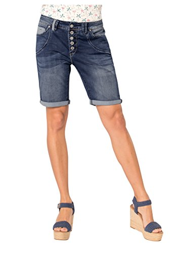Urban Surface Damen Jeans Bermuda-Shorts | Kurze Hosen aus Denim für den Sommer Blue L Stretch-fit-camo