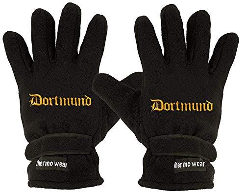 Fan-O-Menal Handschuhe Fleece mit Einstickung Dortmund 56503 schwarz