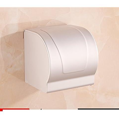 Spazio alluminio carta velina titolare/Tessuti/Box/Vassoio di servizi igienici bagno/ carta impermeabile-B