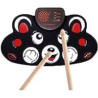 LQH - Drum - Set de tambor eléctrico con Drum Sticks, con función de grabación, ideal como regalo de cumpleaños para niños