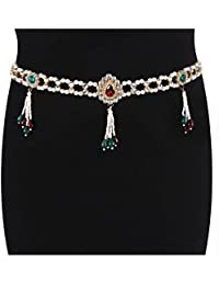 SV Sons Stone Gold Plated Belly Chain/Kamarband For Women & Girls - B07FDY1SJF