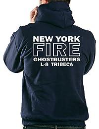 Sudadera con capucha azul marino, Ghostbusters escalera 8 TRIBECA Manhattan de Nueva York azul marino azul marino Talla:large