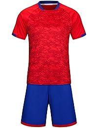 KINDOYO Hombres y niños Fútbol Entrenamiento Deportes Tops Camiseta Jersey  de fútbol 67f96fcf14531