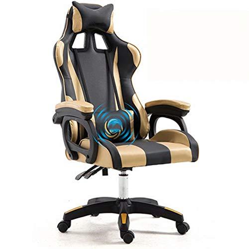 JM-office chair Massage E-Sport Stuhl Rennstuhl Spielsitz Computer Stuhl Heimbürostuhl Liegender Nickerchen Stuhl - Office Massage Chair