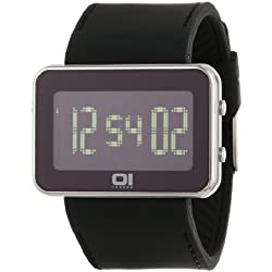 01TheOne Unisex IPLD117-3BK IP Light Digital IPLD Series Watch