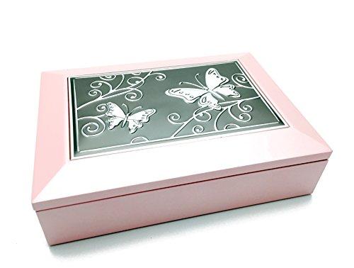 Schönes rosa Holz Schmetterling Schmuck Box (Holz Avon)