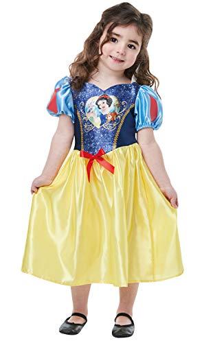 Rubie's Offizielles Disney Prinzessin Pailletten Schneewittchen Klassisches Kostüm für Kinder von 2-3 Jahren, Höhe 98 cm