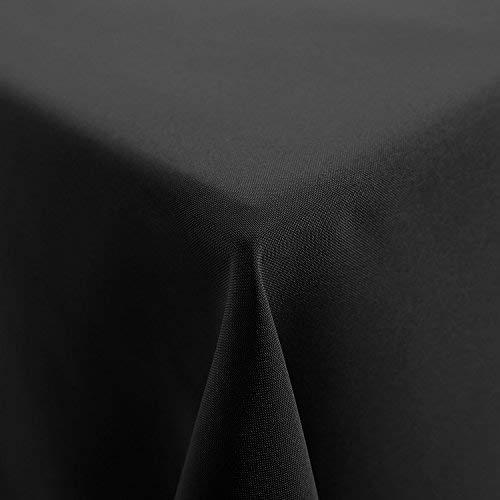 Deconovo Tischdecke Wasserabweisend Tischwäsche Tischtücher 150x200 cm Dunkelgrau