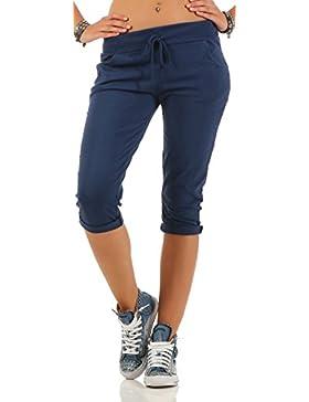 Malito Pantalón Boyfriend Unicolor Baggy Pantalones de Chándal 83701 Mujer Talla Única
