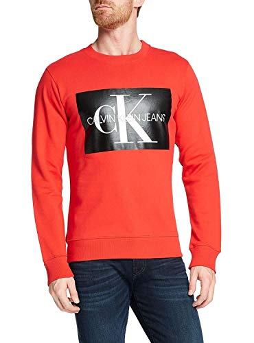 Calvin Klein Jeans Monogram Box Logo Sweater Racing red - Calvin Pullover