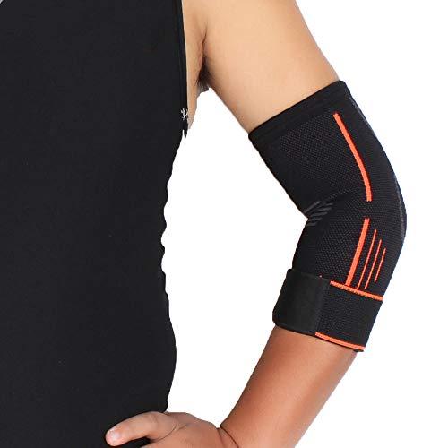 RTGFS Outdoor Sport Ellenbogen Unterstützung Klammer Pad Injury Aid Strap Schutz Wrap Sport Unisex Band Nylon Elastic Ellbogenschutz S -