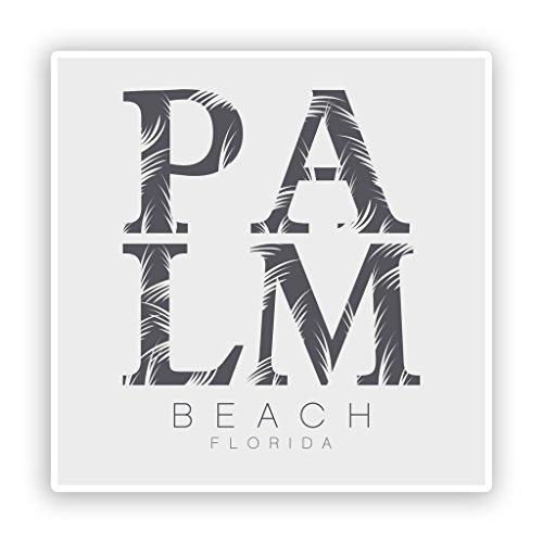 Preisvergleich Produktbild 2x Palm Beach Florida Vinyl Aufkleber Reise Gepäck # 7619 - 10cm/100mm Wide