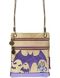 Karactermania Dc Super Hero Girls Batgirl Bolso Bandolera, 17 cm, Morado
