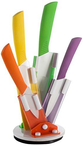 ceppo coltelli ceramica Brandani, ventaglio girevole