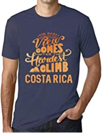 One in the City Hombre Camiseta Vintage T-Shirt Gráfico Best Views Mountains Costa Rica