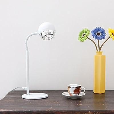 LED-Tischleuchte Aimee Schreibtischlampe LED Weiß Retro Modern Flexarm Kugel