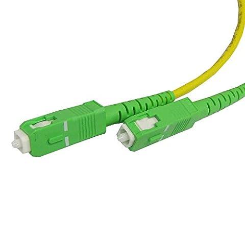 Cablematic - Câble á fibre optique SC/APC á SC/APC simplex