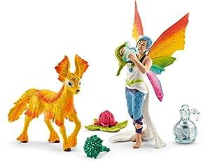 Schleich - Elfa arcoíris Dunya con Potro (41438)