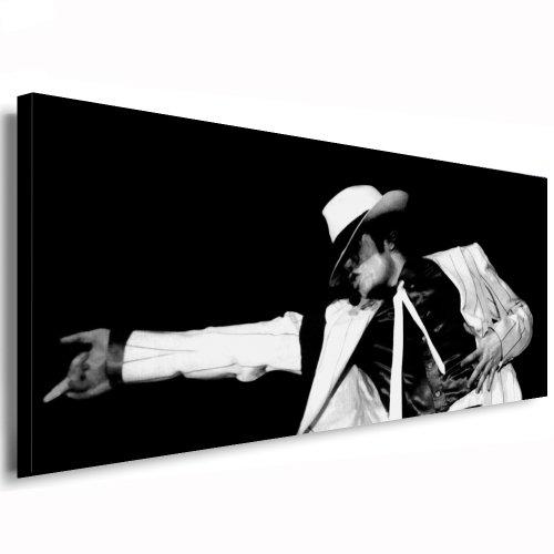 Michael Jackson Leinwand Bild 120x50cm k. Poster ! Bild fertig auf Keilrahmen - Pop Art Gemälde Kunstdrucke, Wandbilder, Bilder zur Dekoration - Deko. Musik Stars (Michael Dekorationen Jackson)